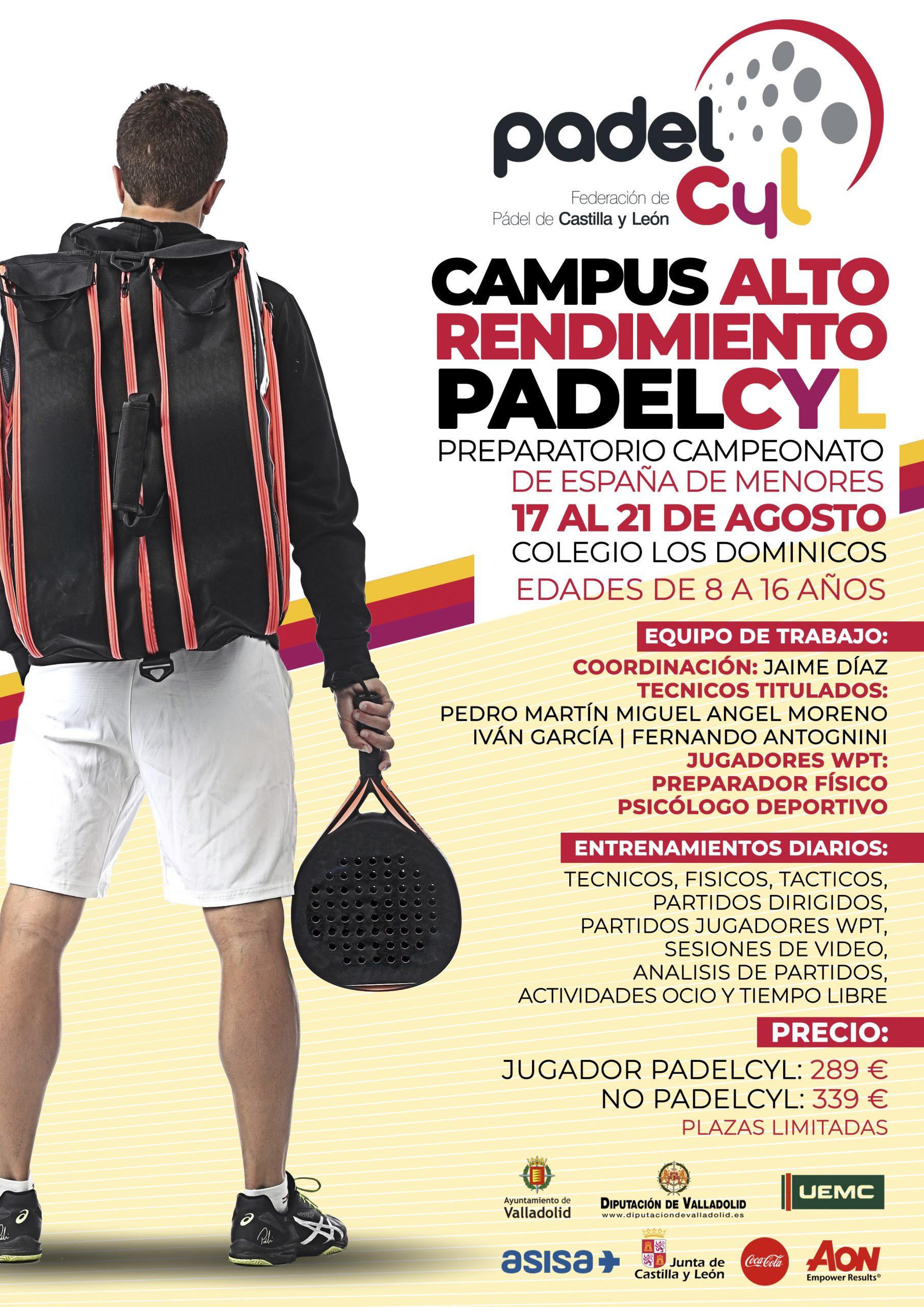 Campus Alto Rendimiento PadelCyL
